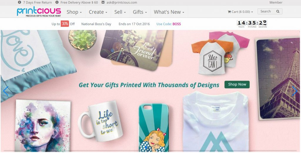 Online Customised Gift Store