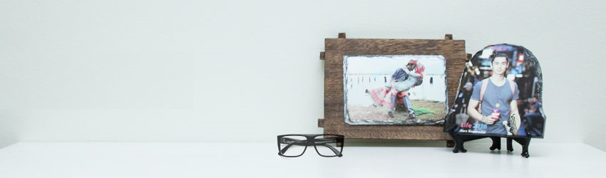 Create personalised photo rocks online with Printcious Gifts using your digital photos.