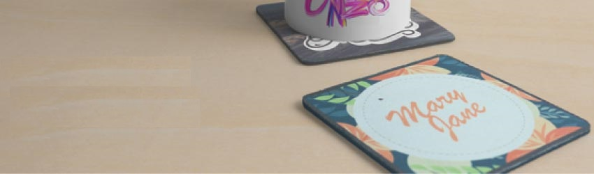 Create personalised coasters, photo coasters, online with Printcious Gifts.com using your digital photos.