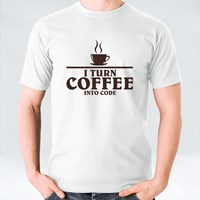 I Turn Coffee Into Code Webmaster Shirt