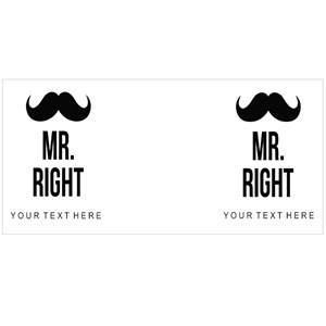 Mr Right Moustache