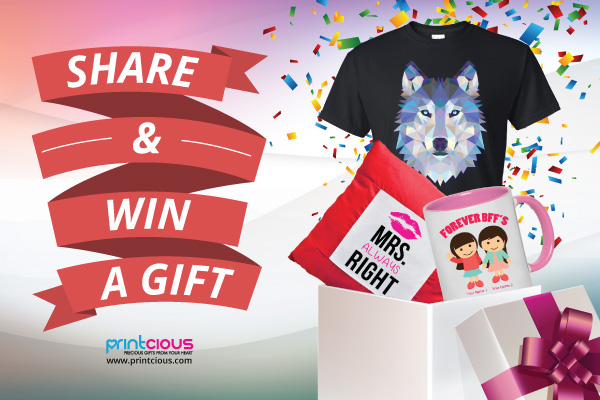 Share and Win FREE Personalised Gifts!