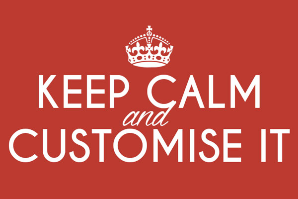 Keep Calm and Carry On Customised Gifts