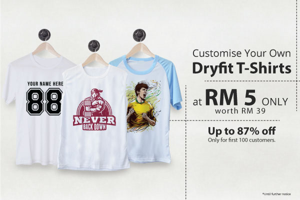 Get Your Customised Shirt At RM5