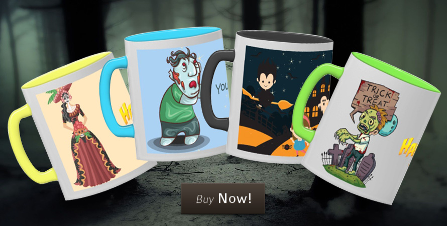 Creepy Halloween mugs to store your creepy drinks