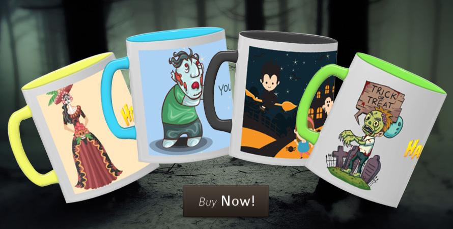 Creepy Halloween mugs to store your creepy drinks
