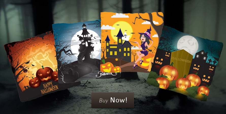 Halloween cushions for a very comfortable haunting this October