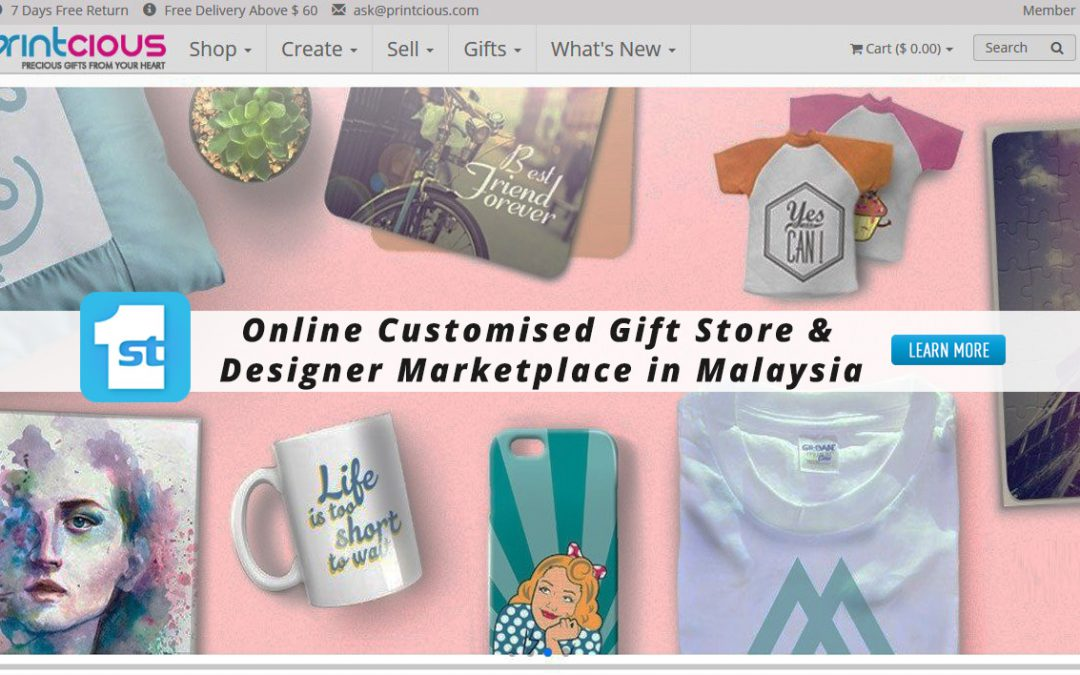 Online Customised Gift Store & Designer Marketplace