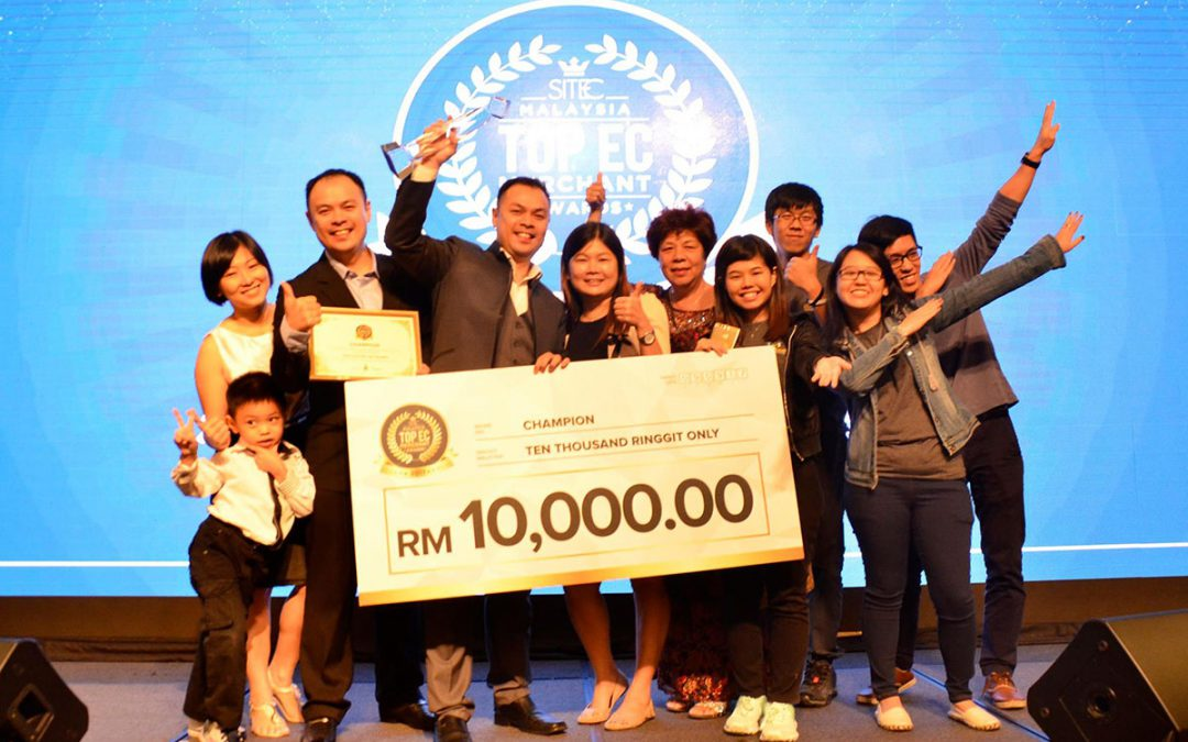 Printcious Has Won the Champion of Malaysia TOP Ecommerce Merchant Awards 2017